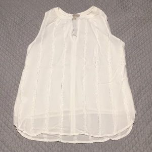 White blouse with textured detail